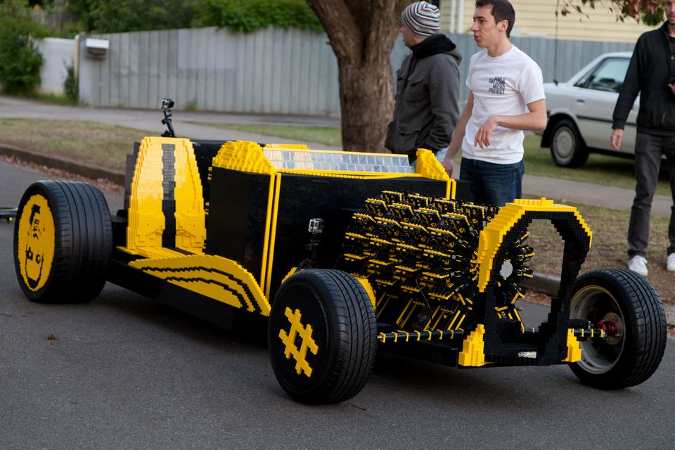 This Lego Life Size Car Has A Working Air Powered Engine, Goes Upto ...