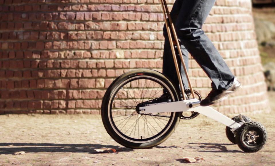 36a30898e42 Peculiar standing bike pedals to Kickstarter success - CNET
