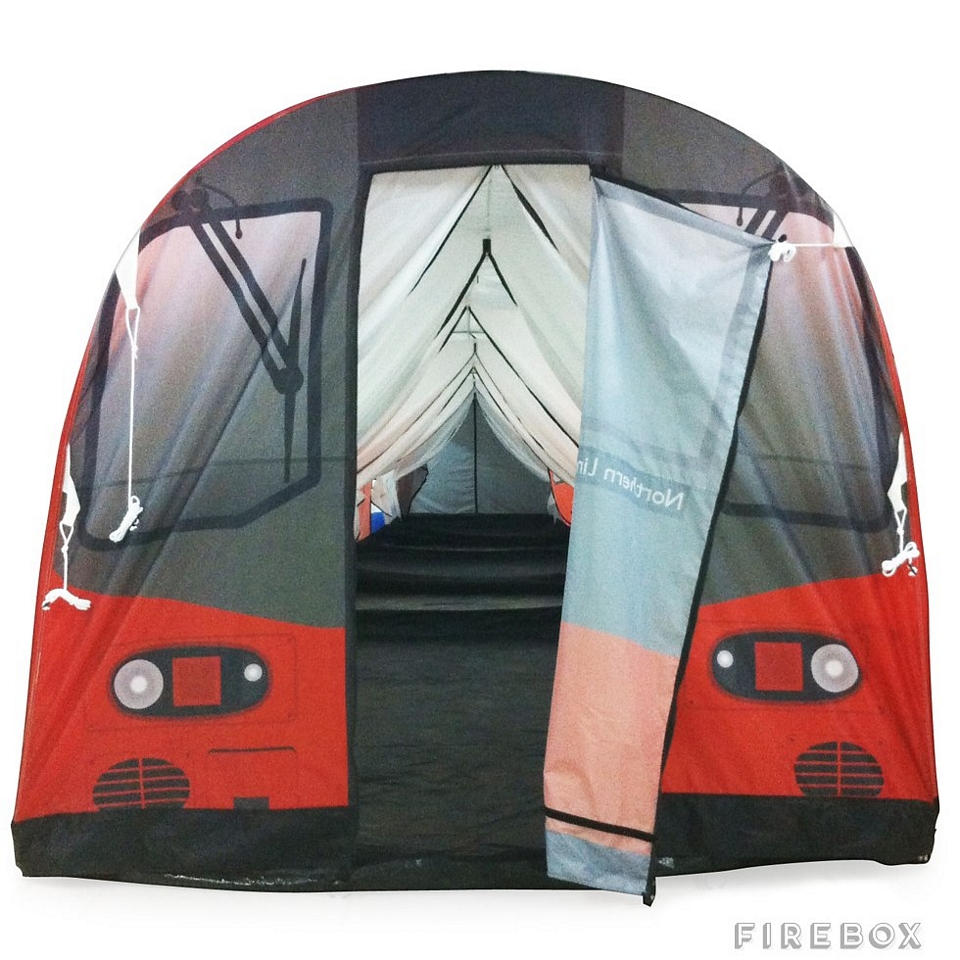 The London Underground Tube Tent measures 51 feet long providing enough standing room to pack up to 72 grown adults. It wonu0027t sleep all 72 of your revelers ...  sc 1 st  CoolThings.com & London Underground Tube Tent