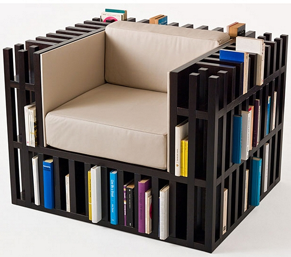 Your Open Book Lounge Chair Makes For A Great Standalone Reading Station,  Complete With A Load Of Shelves For Books, A Comfy Seat, And A Place To Set  Down ...
