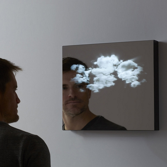 Lucid Mirror Adds A Moving Cloudscape To Your Reflection
