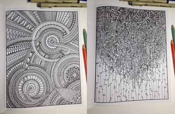 Between The Lines Is A Coloring Book For People With Limitless Patience And Concentration