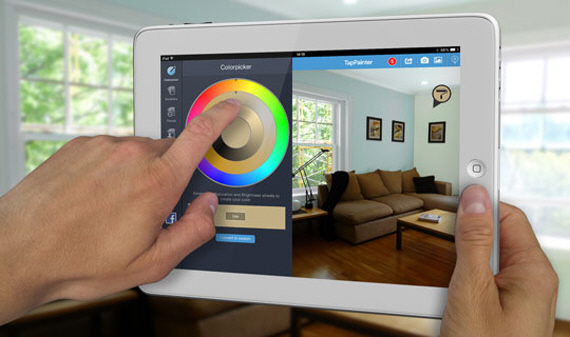 Tappainter lets you virtually paint your home in any color for App to see paint color on walls