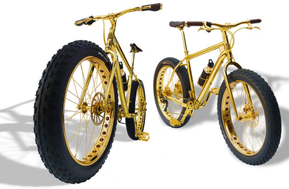 24 K Gold Extreme 1 Million Dollar Mountain Bike