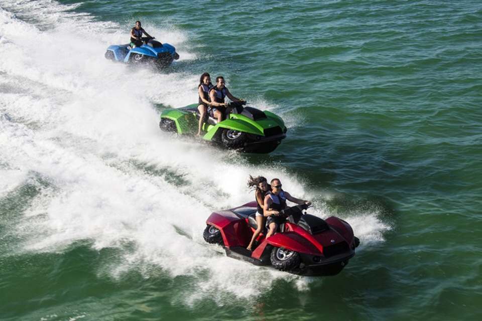 quadski xl the half jetski half quadcycle can now ride two people at a time. Black Bedroom Furniture Sets. Home Design Ideas