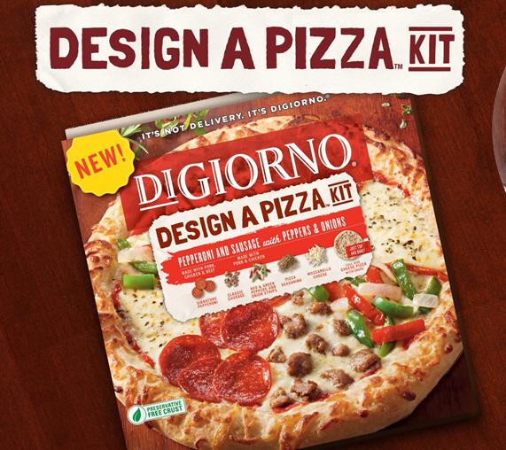 Digiorno Frozen Pizza digiorno design a pizza kit lets you arrange your own toppings