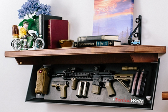 Perfect The Gun Compartment Shelves Are Designed To Mount On Standard 2 X 4 Walls,  So No Interior Modifications Is Required To Install It In Most Homes.
