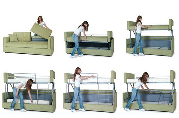 Coupe Sofa Transforms Into A Bunk Bed In Seconds