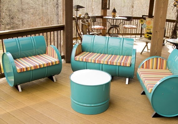 furniture made from barrels. It\u0027s Tough Imagining Industrial Steel Barrel Drums Being Re-purposed Into Snazzy-looking Home Furniture. Yet, That\u0027s Exactly What DrumWorks Furniture Made From Barrels N