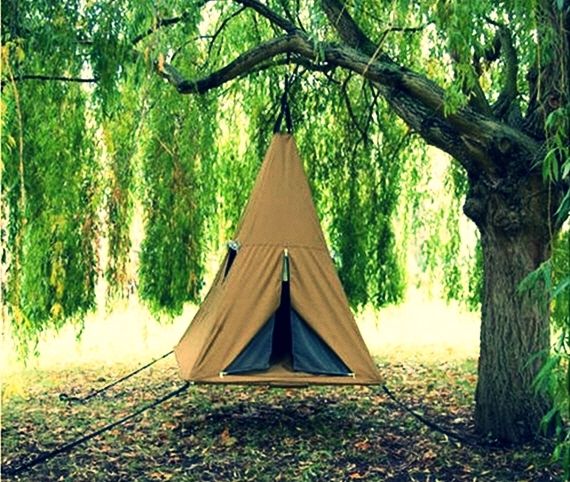 The ... & Treepee Is A Hanging Swinging Tent For Kids