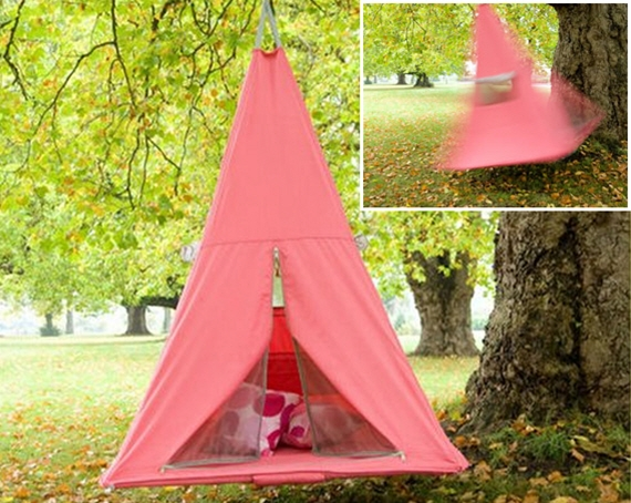 & Treepee Is A Hanging Swinging Tent For Kids