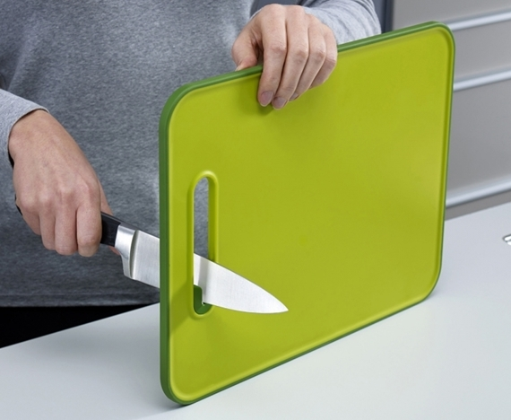 slicesharpen cutting board has a builtin knife sharpener, Kitchen design