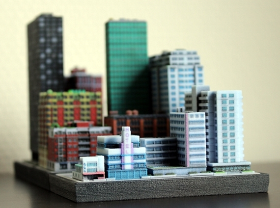 Build a miniature city with 3d printed ittyblox buildings for Miniature architecture