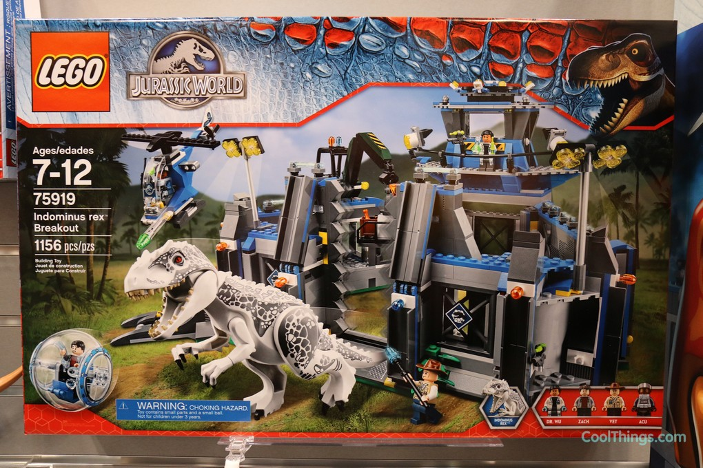 exclusive pics and video lego jurassic world indominus rex breakout set