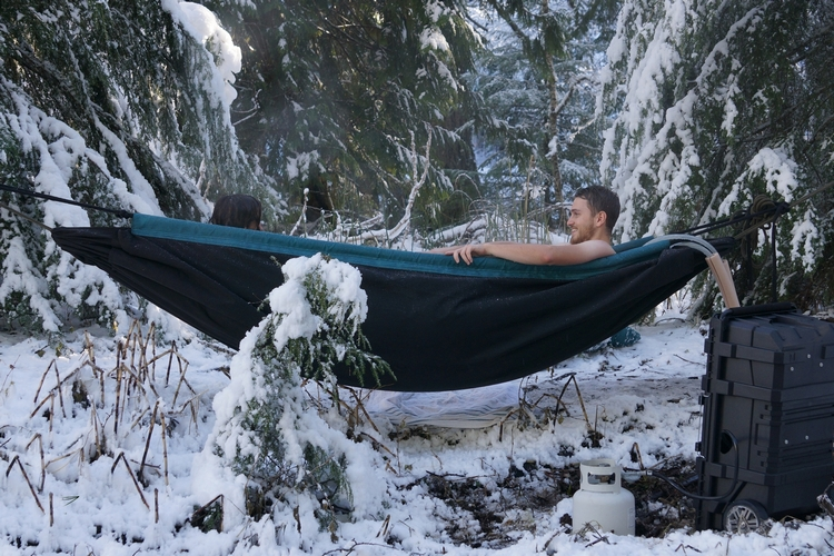 Hydro Hammock Is Also A Floating Bath Tub