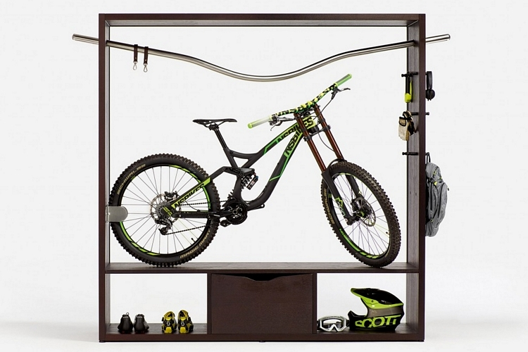 Vadolibero bike shelf Bicycle bookshelf