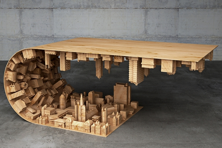 If You Loved Inception Youll Love This Wave City Coffee Table