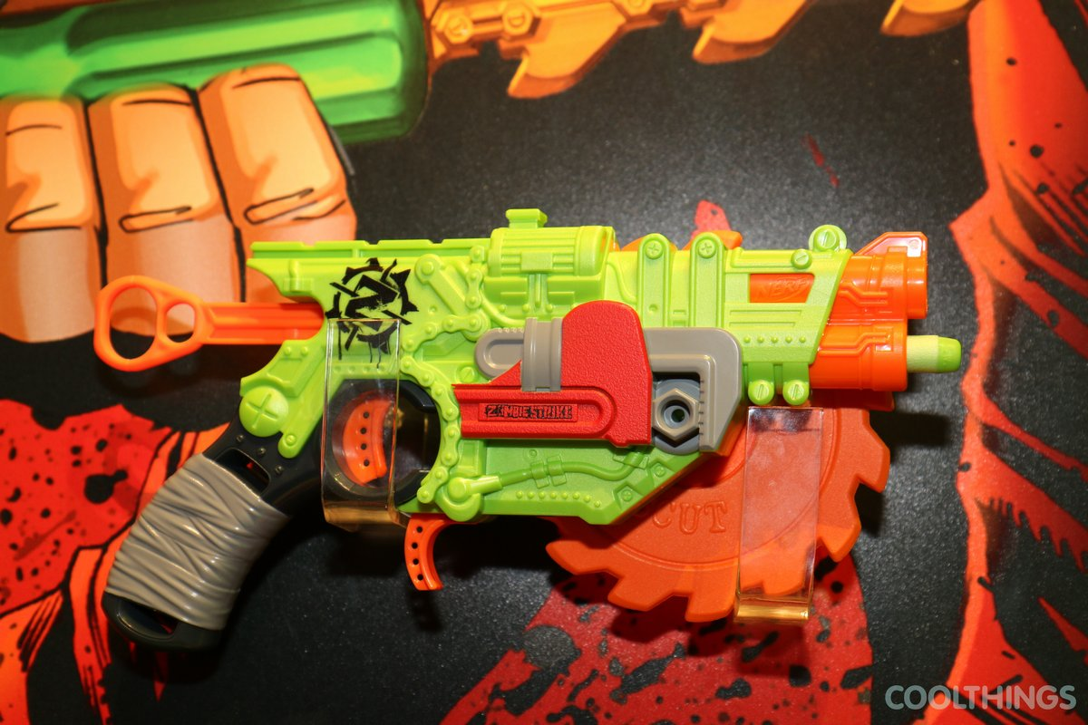 item 3 Nerf Zombie Strike Brainsaw Blaster Gun Toy Spinning Saw -Nerf  Zombie Strike Brainsaw Blaster Gun Toy Spinning Saw