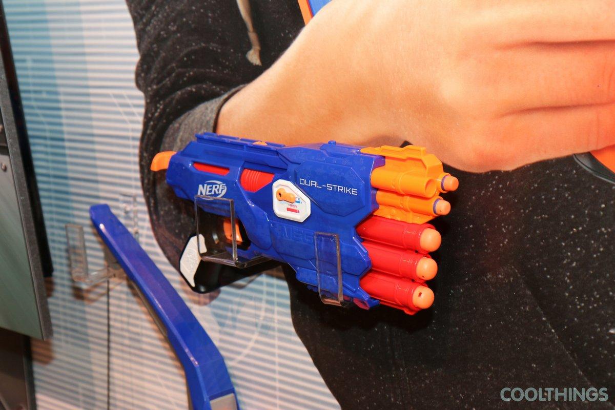 Lot 3 Nerf N Strike Elite Dualstrike Blaster Dual Strike Mega Bigshock Gun  Mini