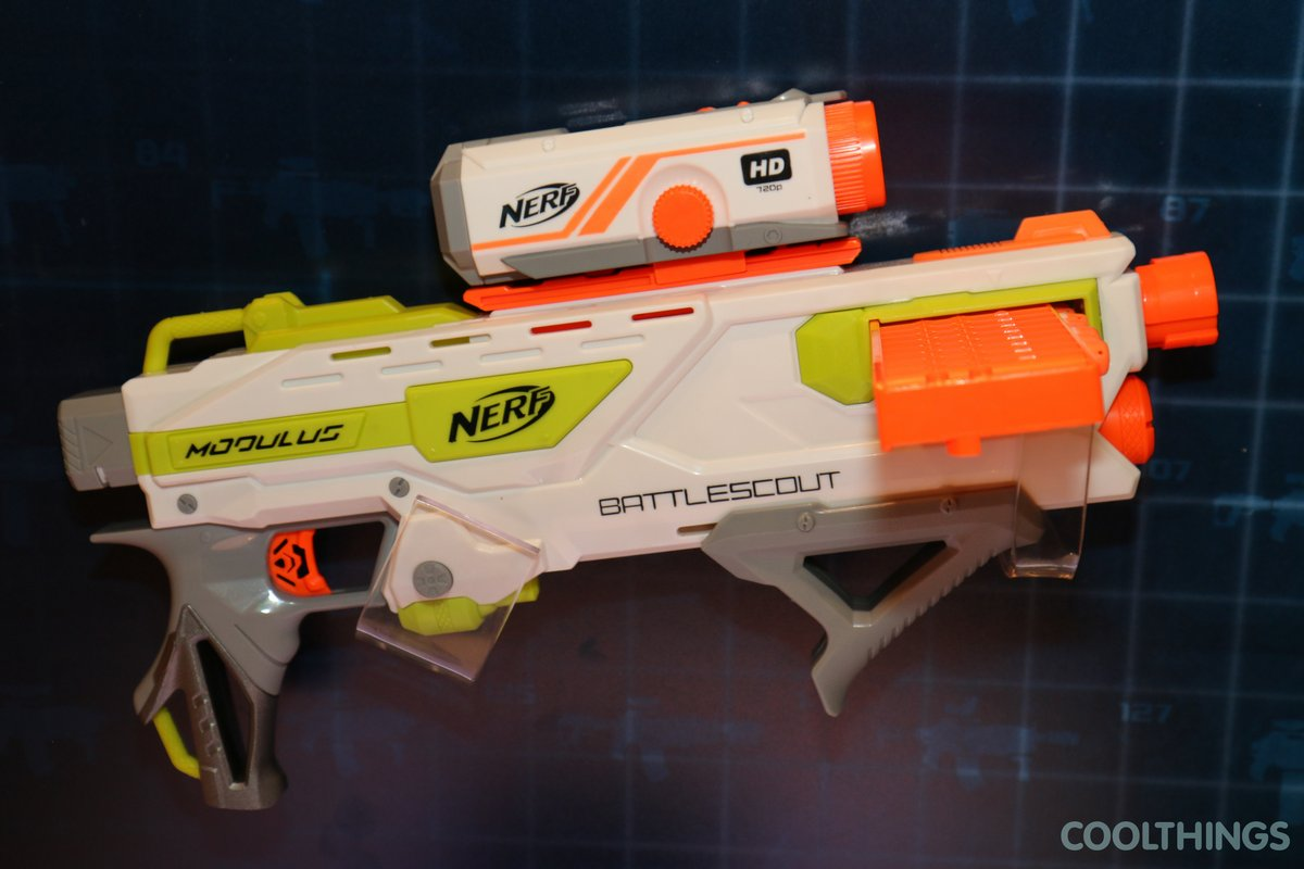 A selection of Nerf N-Strike blasters in a variety of formats and styles,
