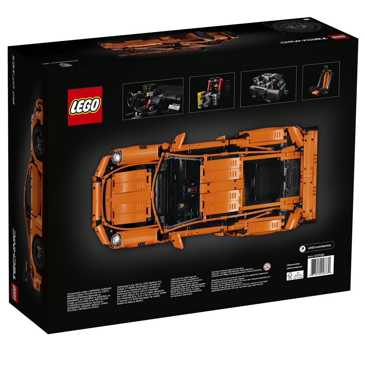 LEGO Technic Set 42056 Porsche 911 GT3 RS Box Back View