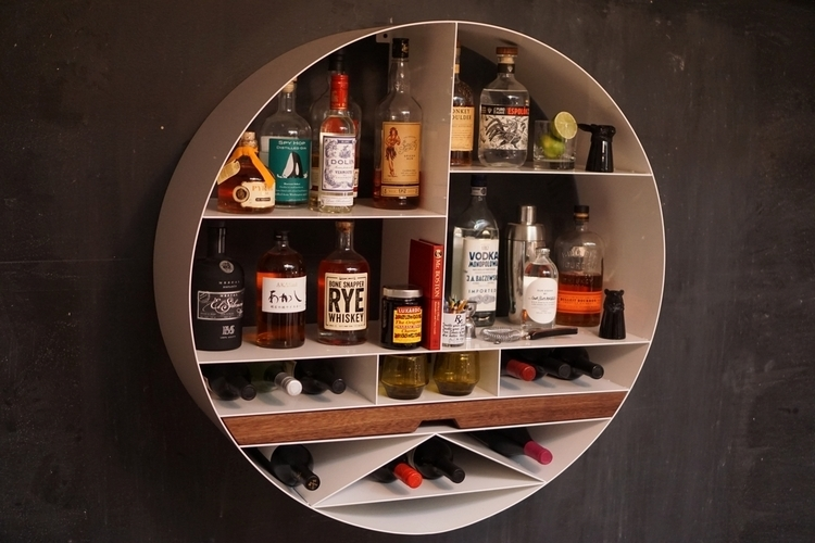 Libation Station Is A Wall Mounted Mini Bar For E Starved Apartments