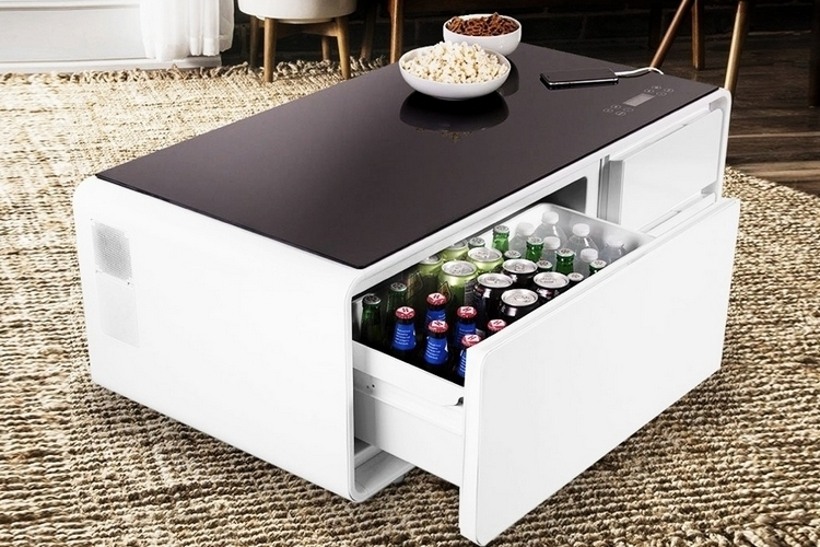 Sobro cooler coffee table for Outdoor coffee table with cooler
