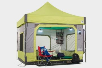 E-Z Up C&ing Cube Is A Six-Person Tent With Standing Headroom That Sets Up In Five Minutes & Cool Tents