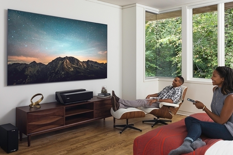 Hisense 4k ultra hd smart laser tv for Miroir mp30 micro projector 360p dlp
