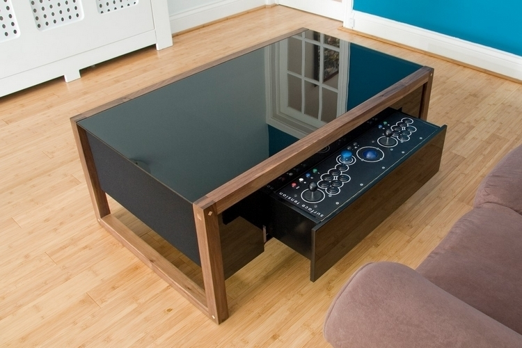 Surface tension nucleus arcade coffee table for Really cool coffee tables