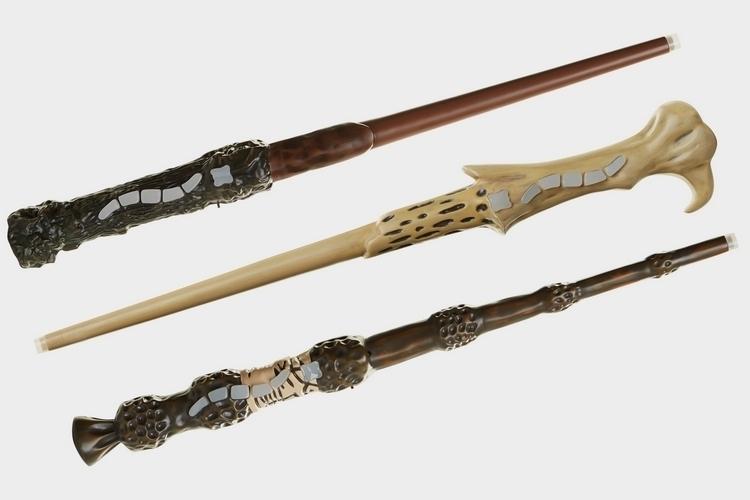 Jakks pacific harry potter wizard training wands for Wooden dumbledore wand