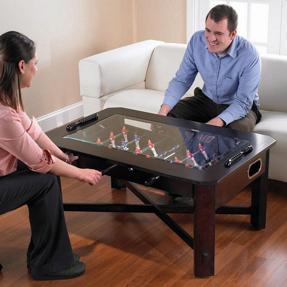 Foosball Coffee Table: Set Your Drink, Put Your Feet Up, Play A Quick Game