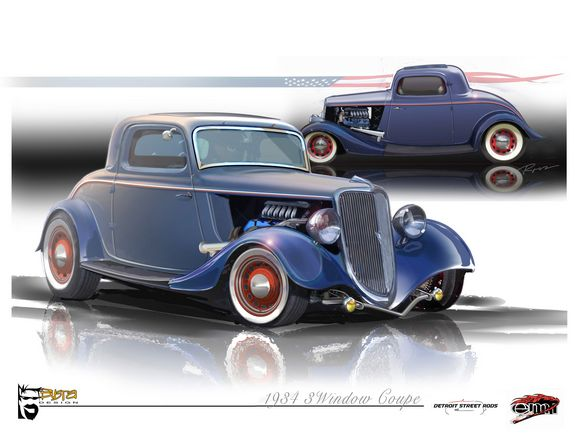 1934 Ford 3-Window Coupe
