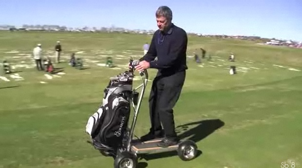 One Person Golf Cart >> Mantys Is A Foldable Golf Cart For One