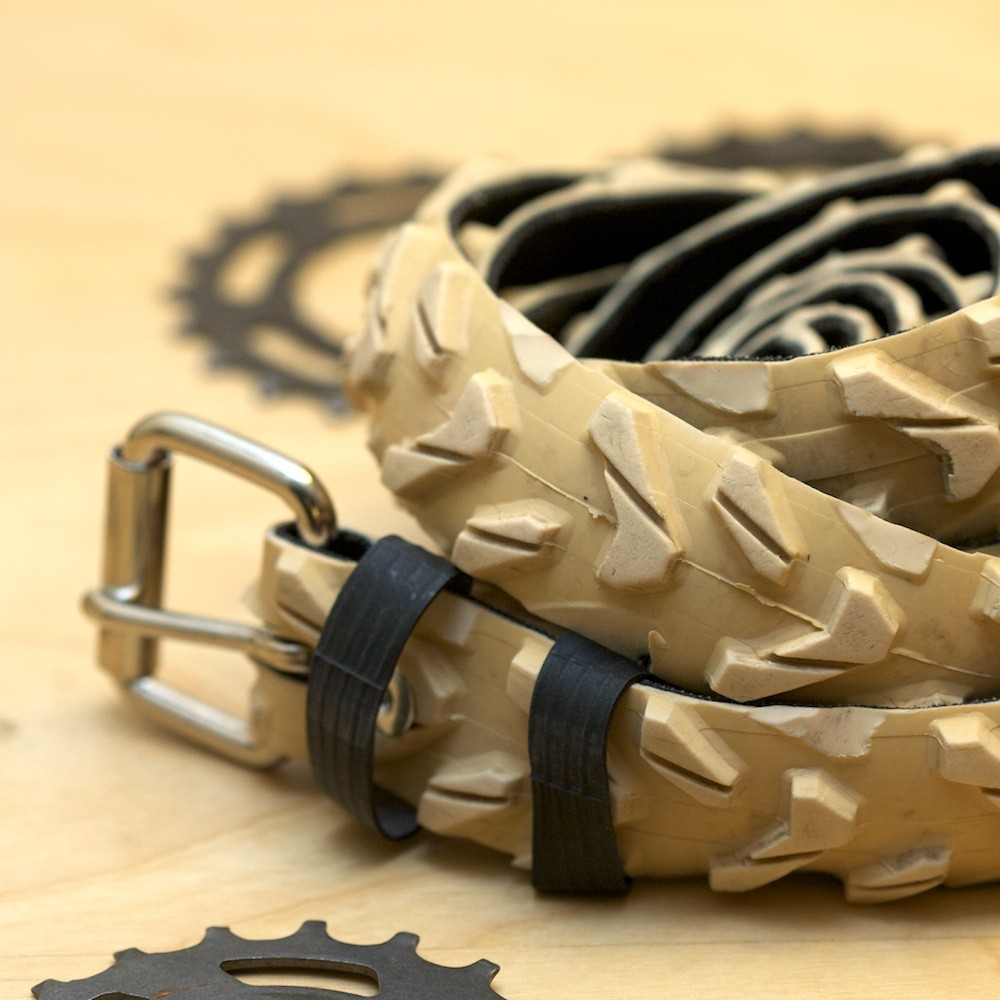 Tire Belt Uses Discarded Bike Tires To Hold Your Pants Up