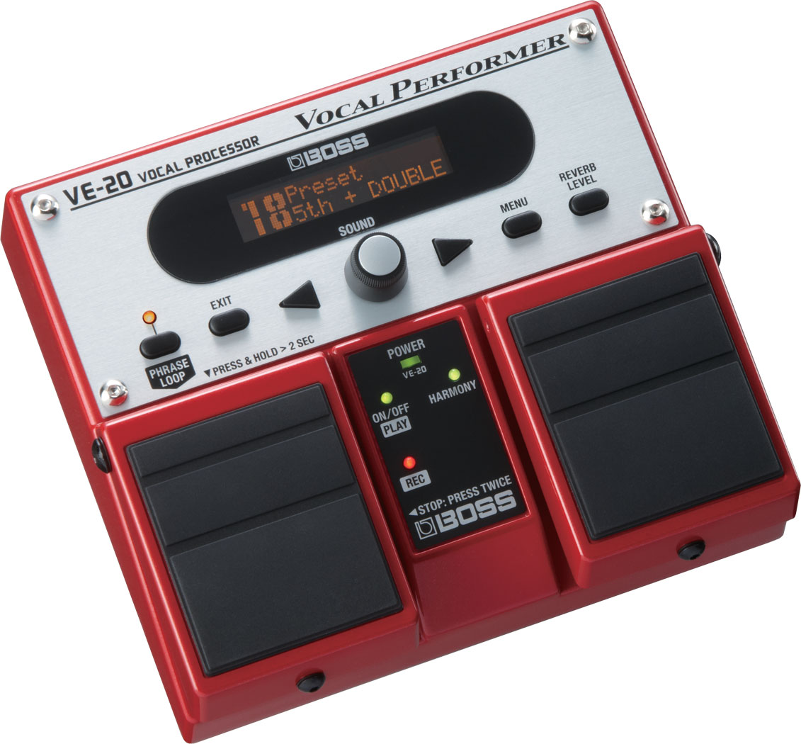 boss ve 20 vocal performer auto tunes your voice adds harmonies
