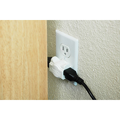 Hug-a-Plug Adapter Adds Outlets Parallel To The Wall