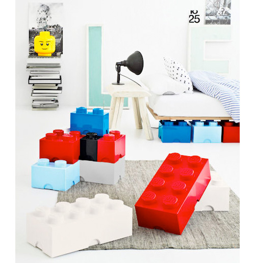 Storage Containers Designed As Lego Parts