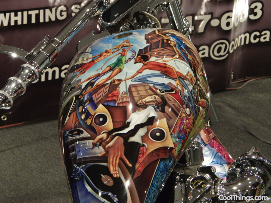 Cool airbrush jobs from motorcycle show nyc 2011 for Painting jobs nyc