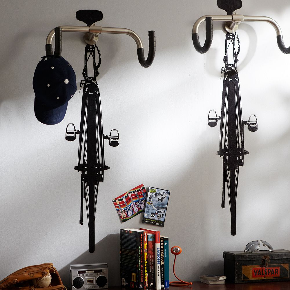 Road Bike Decal Comes With Handlebar Hooks For Hanging Stuff