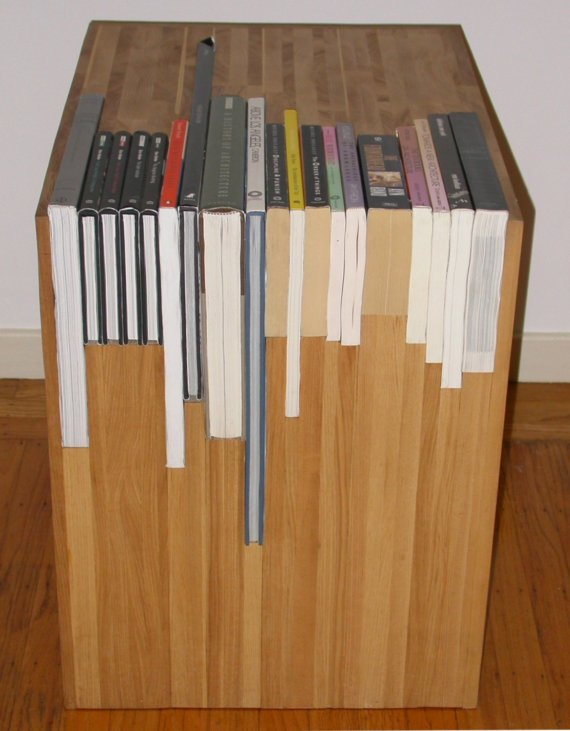 Superieur The Custom Stacked Book Side Table Is A Wooden Piece Of Furniture Whose  Measurements Are Made Are Made The Moment You Order And Send In Your Books.