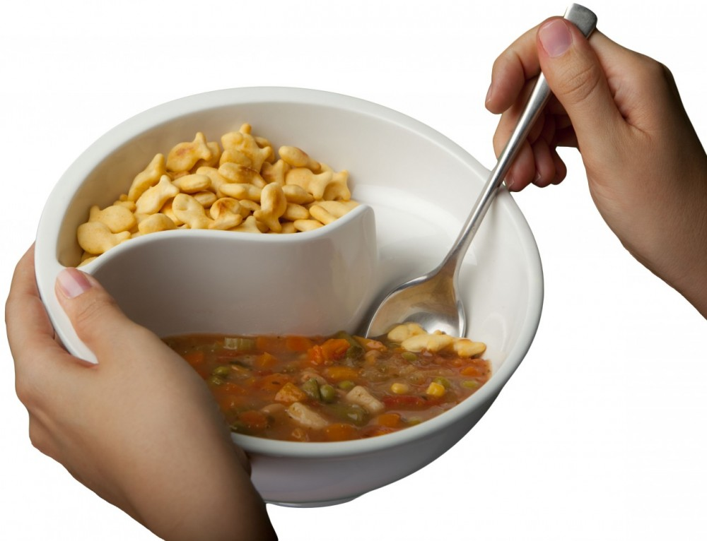 No more soggy cereal with the obol bowl that way you can put milk on one side and your favorite crispies on the other combining them by spoonfuls to keep everything crunchy rather than pouring ccuart Gallery