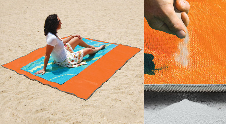 Sandless Beach Mat Repels Sand Dust And Water