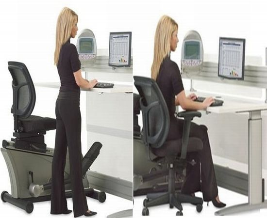Superbe But Youu0027re An Elliptical Kind Of Guy, So Youu0027ve Held Off On Getting One.  The Elliptical Machine Office Desk Could Be ...
