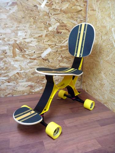 & Isukebo Skateboard Chair Lets You Skate At Work