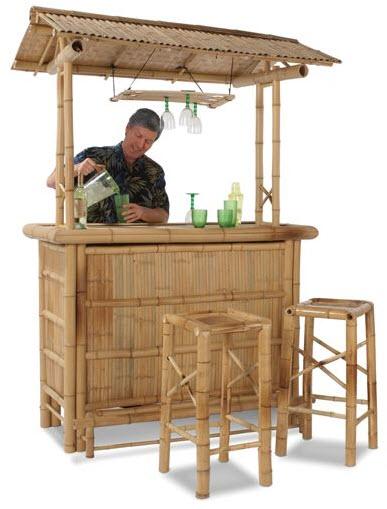 Bamboo Tiki Bar Turns Your Backyard Into A Beachfront Paradise