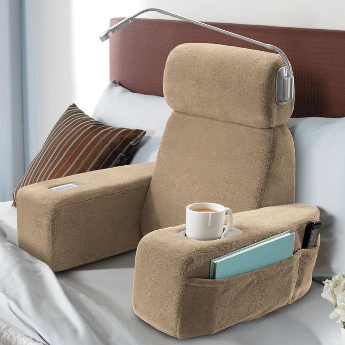 Nap Massaging Bed Rest Turns Your Bed Into An Armchair