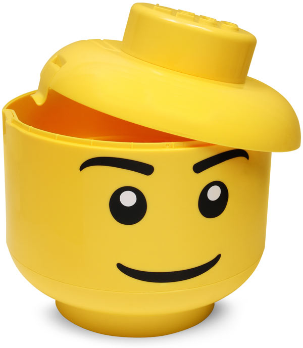 Lego Sort And Store Hides Your Bricks Inside A Giant Minifig Head