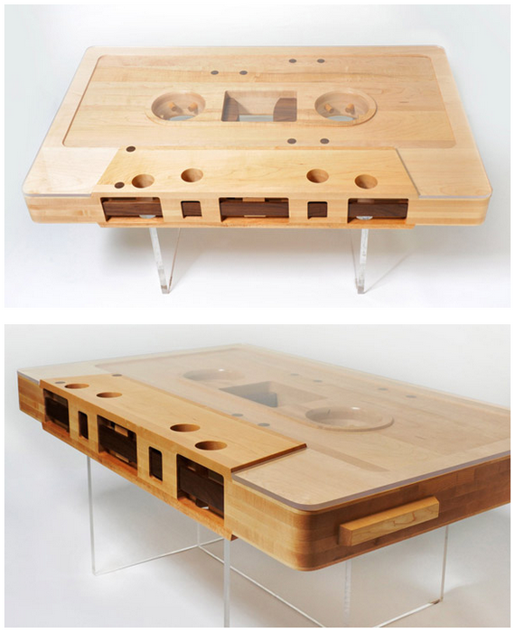 Mixtape Coffee Table - Cassette coffee table