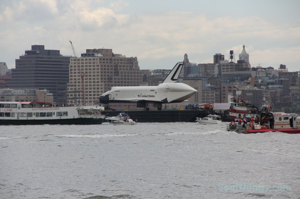 Space Shuttle Enterprise on way to Intrepid Museum in NYC